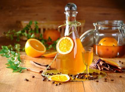 Likier pomarańczowo-kawowy