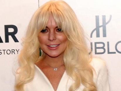 Lindsay Lohan - wpadka na imprezie amfAR 2012