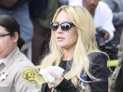Lindsay Lohan wyszła z więzienia