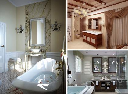 Luksusowe łazienki w nowoczesnych odsłonach