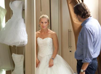 Magdalena Cielecka w salonie sukien ślubnych