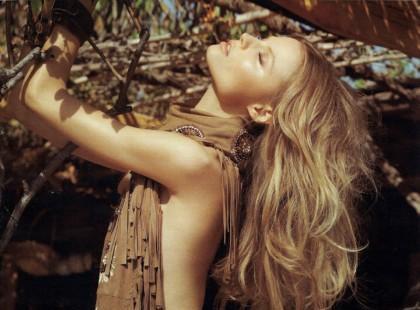 Magdalena Frąckowiak w hipisowskiej sesji dla rosyjskiego Vogue