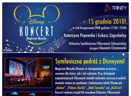 Magiczna Muzyka Disneya z Łukaszem Zagrobelnym i Kasią Popowską