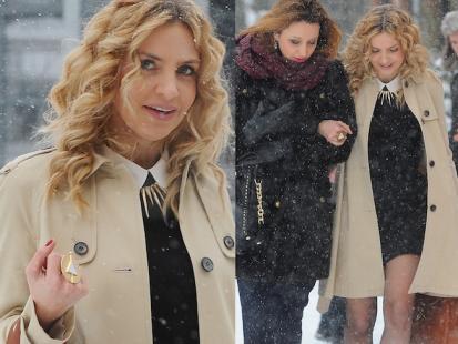 Maja Frykowska w szpilkach walczy z zimą