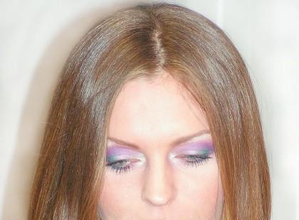 """Makijaż """"Soft violet"""""""