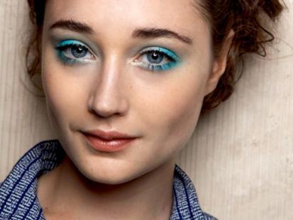 Makijaż: Błękitna Laguna na powiekach