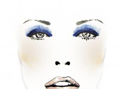 Makijaż blue jeans - krok po kroku