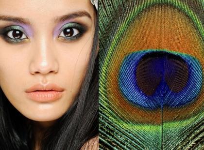 Makijaż Cavalli inspirowany pawim piórem