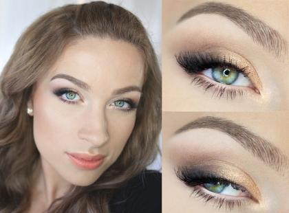Makijaż dla blisko osadzonych oczu krok po kroku