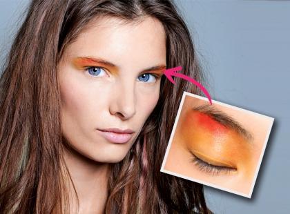 Makijaż w kolorach zachodzącego słońca