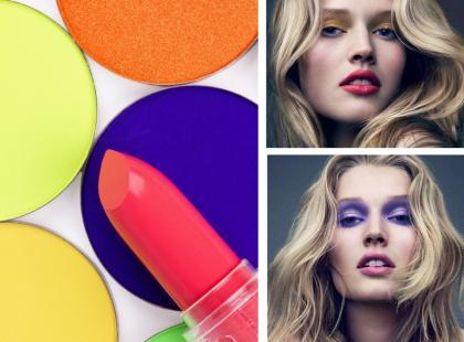 Makijaż w neonowych kolorach