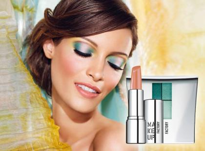 Makijaż w wiosennych kolorach