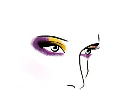 Makijaż wieczorowy w wyrazistych fioletach - krok po kroku