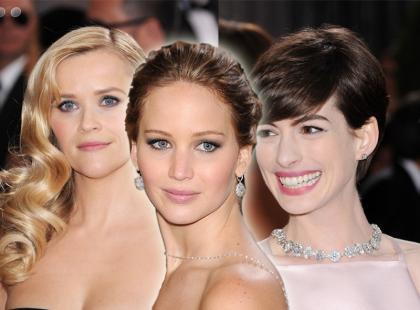 Makijaże i fryzury gwiazd na Oscarach 2013