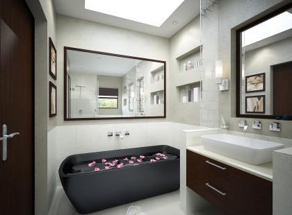 Mała i sprytna - nowoczesna łazienka