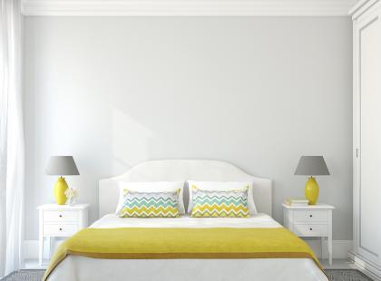 Mamy kilka pomysłów na małą sypialnię. Wybierz najlepszy i ciesz się ładnym wnętrzem.