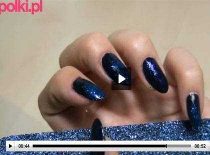 Manicure brokatowy krok po kroku