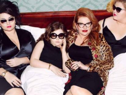 Marta Grycan w sesji z córkami