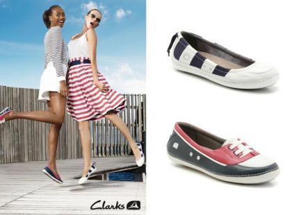 Marynarskie buty Clarks