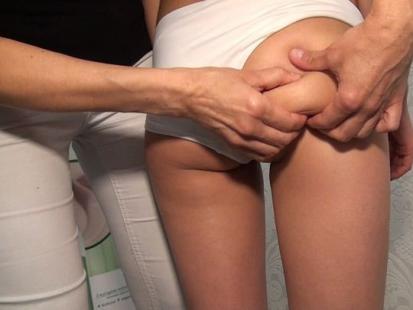 Masaż antycellulitowy - pośladki