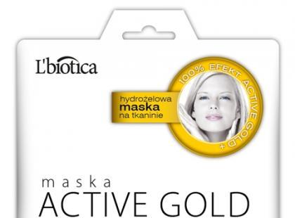 Maska hydrożelowa Active Gold - L'biotica