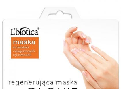Maska na dłonie w rękawicach - L'biotica