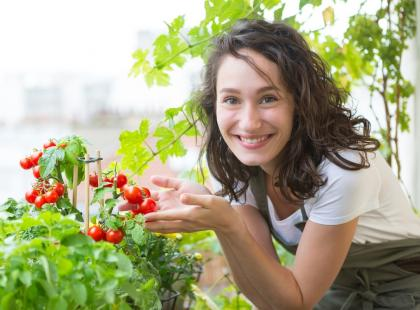 Masz balkon lub taras? Obok kwiatów posadź pomidory w doniczce