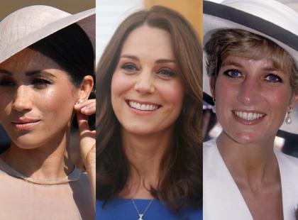 Meghan i Kate często są porównywane do Diany. Wszystkie łączy pewna wspólna cecha... wyglądu!