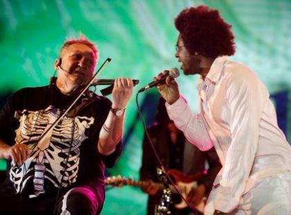Michał Urbaniak i Tom Browne na wspólnym koncercie w Warszawie
