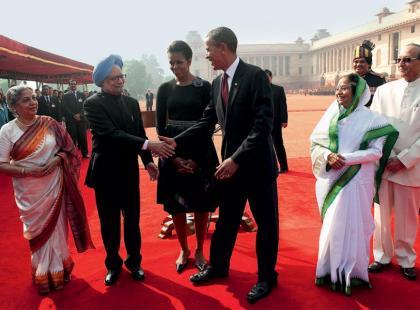 Michelle i Barack Obamowie - Kierunek: Azja