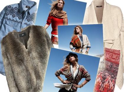 Miejskie etno w zimowym H&M