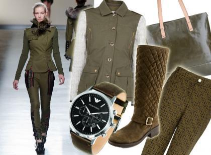 Militarnie i nie tylko: ubrania i dodatki w kolorze khaki