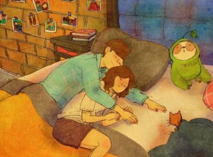 Miłość to nie tylko słowa. To też niewielkie gesty. Te obrazki pokazują esencję miłości!