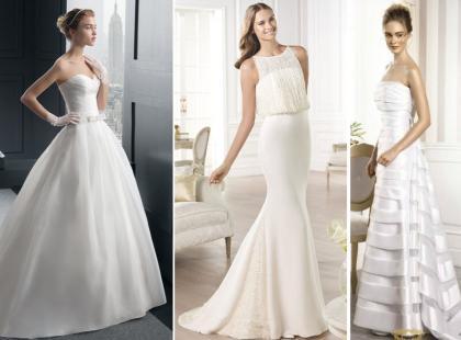Minimalistyczne suknie ślubne 2015