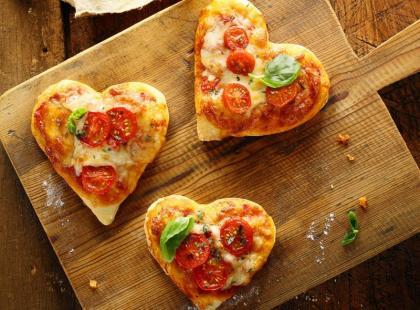 Minipizze w kształcie serc
