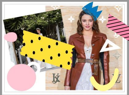 Miranda Kerr w końcu pokazała suknię ślubną. Projekt Diora robi wrażenie. Ładna?
