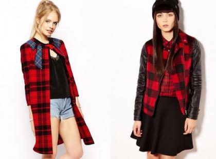 """Moda na jesienną pogodę """"w kratkę"""""""