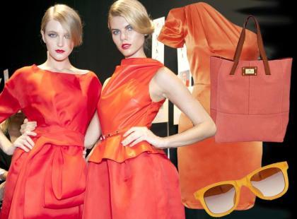 Moda na odcienie oranżu