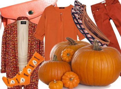 Modna jesień w odcieniach dyni
