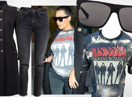 Modna Kim Kardashian w ciąży. Nosi ciuchy swojego faceta