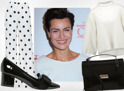 Modna po 50-tce: Danuta Stenka i jej sposób na spodnie w grochy