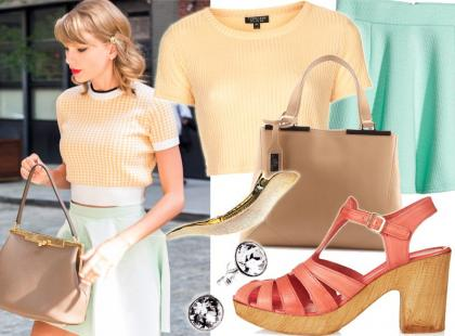 Modna Taylor Swift w stylu retro