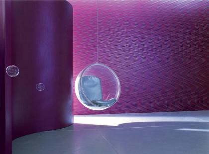 Modne fioletowe wnętrza