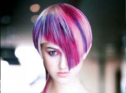 Modne fryzury - odważne kolory