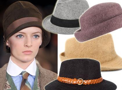 Modne kapelusze na zimę 2013