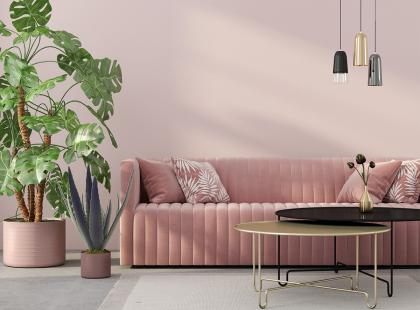 Modne kolory ścian - pudrowy róż