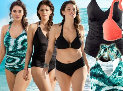Modne kostiumy kąpielowe dla tych z zaokrąglonymi kształtami