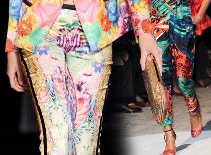 Modne kwieciste spodnie