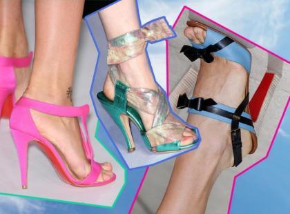 Modne sandały na obcasie - lato 2011