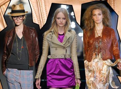 Modne skórzane kurtki - wiosna 2011